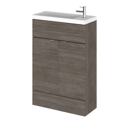 Elite Grey Avola 600mm Compact Vanity Unit & Basin